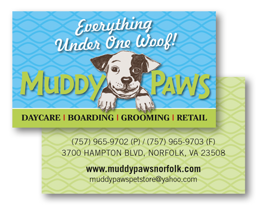 Portfolio categories business cards muddy paws reheart Image collections