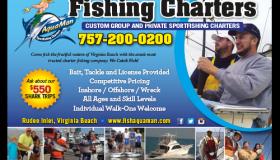 AquaMan Fishing Charters print ad