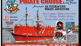 Capt. Jack's Pirate Cruise print ad
