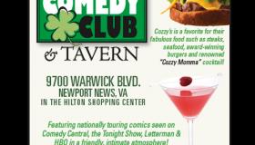 Cozzy's Comedy Club print ad