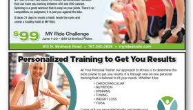 MyRide Cycling Studio / Your Personal Trainer print ad