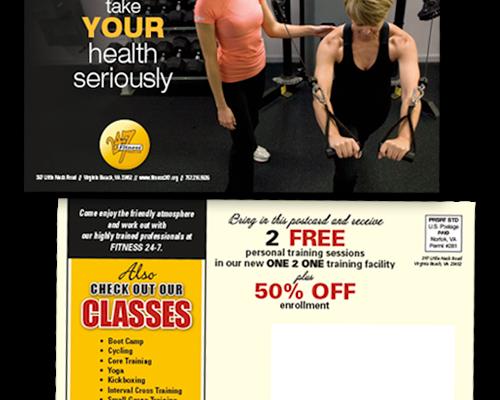 Fitness 24/7 Trainer Postcard