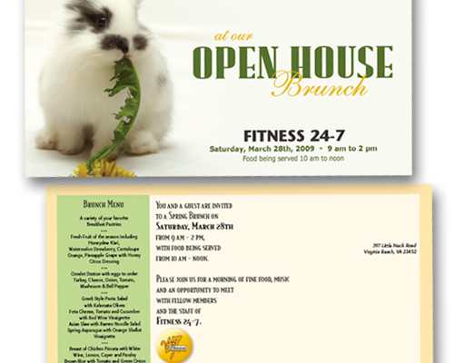 Fitness 24/7 Open House Postcard