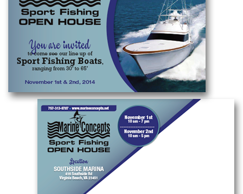 Marine Concepts Sports Fishing Postcard