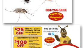 "Palmetto Exterminators ""Got Bugs?"" Postcard"